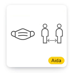 Aida Mask Detection with Social Distance Detection